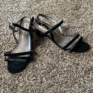 Nordstrom Trendy black strap square wide heels